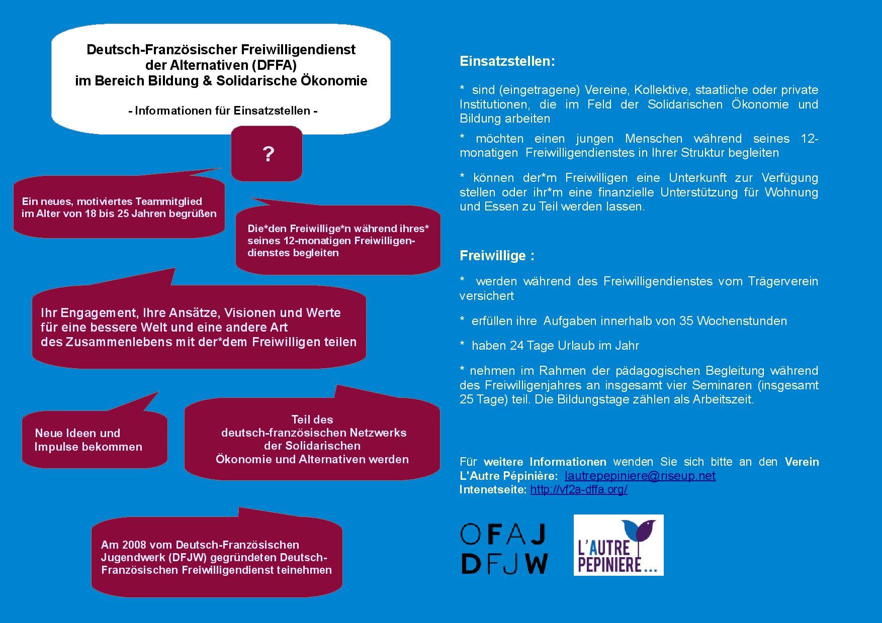 Informationen für deutsche Einsatzstellen